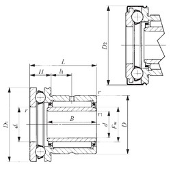 25 mm x 42 mm x 20,5 mm  IKO NAXI 2530Z Cojinetes Complejos