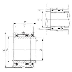 50 mm x 72 mm x 34 mm  IKO NATB 5910 Cojinetes Complejos