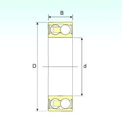 40 mm x 90 mm x 33 mm  ISB 2308-2RSTN9 Rodamientos De Bolas Autoalineables