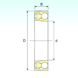 95 mm x 170 mm x 43 mm  ISB 2219 K Rodamientos De Bolas Autoalineables