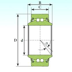 30 mm x 47 mm x 22 mm  ISB GE 30 BBL Rodamientos De Bolas Autoalineables