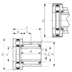 45 mm x 62 mm x 25 mm  IKO NBXI 4535Z Cojinetes Complejos
