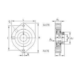 INA GLCTE12 Unidad De Rodamiento