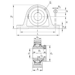 INA RAK1-3/4 Unidad De Rodamiento