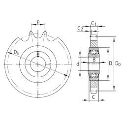 16,2 mm x 40 mm x 18,3 mm  INA KSR16-L0-08-10-18-08 Unidad De Rodamiento