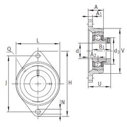 INA PCFT15 Unidad De Rodamiento