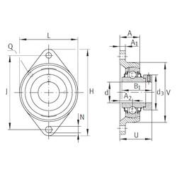 INA RCJT7/8 Unidad De Rodamiento