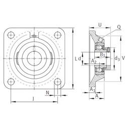 INA PCJ1/2 Unidad De Rodamiento