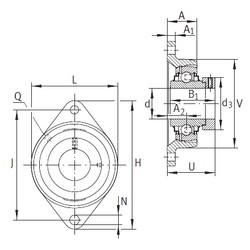 INA LCJT50-N Unidad De Rodamiento