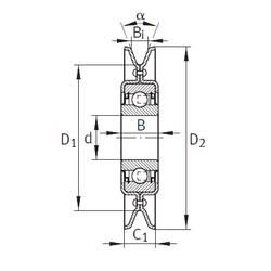 INA RSRA16-186-L0 Unidad De Rodamiento