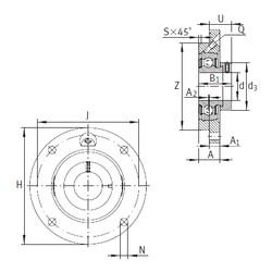 INA PME30-N Unidad De Rodamiento