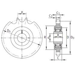 16,2 mm x 40 mm x 18,3 mm  INA KSR16-L0-12-10-15-22 Unidad De Rodamiento