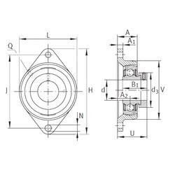 INA PCJT1-1/4 Unidad De Rodamiento