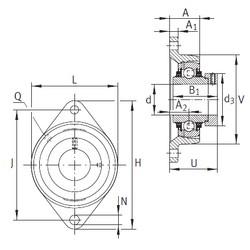 INA TCJT30-N Unidad De Rodamiento