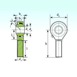 ISB TSM 25 BB-O Rodamientos De Bolas Autoalineables