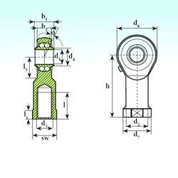 ISB TSF 14 BB Rodamientos De Bolas Autoalineables