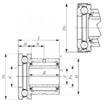 60 mm x 85 mm x 25,5 mm  IKO NAXI 6040Z Cojinetes Complejos