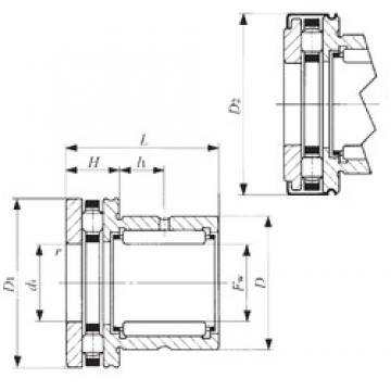 IKO NBX 6040Z Cojinetes Complejos