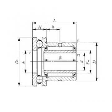 12 mm x 24 mm x 16,5 mm  IKO NAXI 1223 Cojinetes Complejos