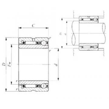 15 mm x 28 mm x 18 mm  IKO NATA 5902 Cojinetes Complejos