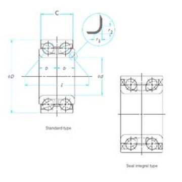 30 mm x 60,3 mm x 37 mm  CYSD DAC306003037 Cojinetes De Bola De Contacto Angular