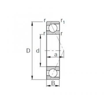 35 mm x 55 mm x 10 mm  CYSD 7907 Cojinetes De Bola De Contacto Angular