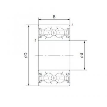 32 mm x 47 mm x 18 mm  CYSD 46/32-1AC2RS Cojinetes De Bola De Contacto Angular
