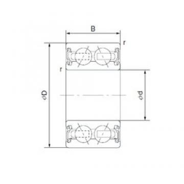 45 mm x 64 mm x 20 mm  CYSD 4609-2AC2RS Cojinetes De Bola De Contacto Angular