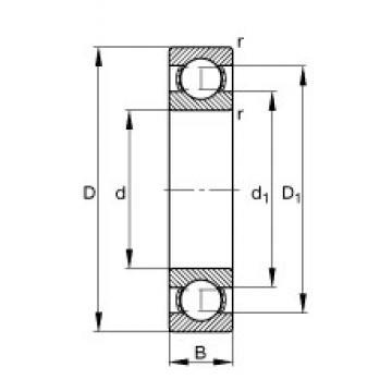 12 mm x 24 mm x 6 mm  FAG 61901 Cojinetes de bolas profundas