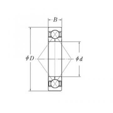 65 mm x 125 mm x 24 mm  CYSD QJ214 Cojinetes De Bola De Contacto Angular