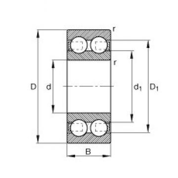 55 mm x 120 mm x 43 mm  FAG 4311-B-TVH Cojinetes de bolas profundas