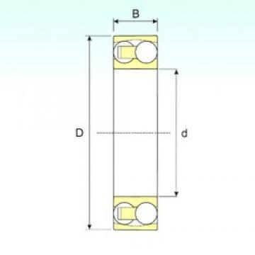 30 mm x 62 mm x 20 mm  ISB 2206 TN9 Rodamientos De Bolas Autoalineables