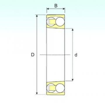 30 mm x 72 mm x 27 mm  ISB 2306 K Rodamientos De Bolas Autoalineables