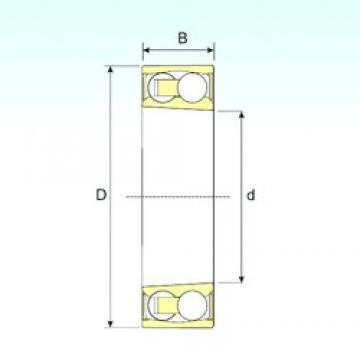 30 mm x 62 mm x 20 mm  ISB 2206-2RSKTN9 Rodamientos De Bolas Autoalineables