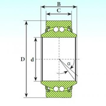 8 mm x 16 mm x 8 mm  ISB GE 08 BBL Rodamientos De Bolas Autoalineables