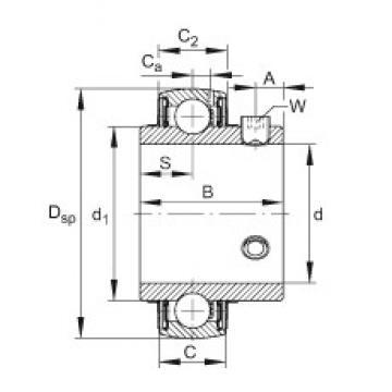 FAG UC206-17 Cojinetes de bolas profundas