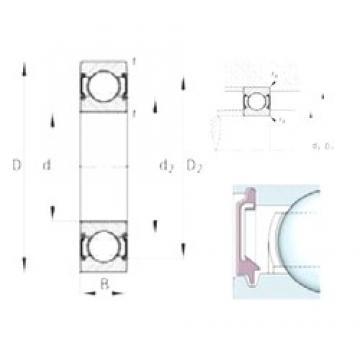 12 mm x 32 mm x 10 mm  FAG 6201-C-2BRS Cojinetes de bolas profundas