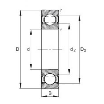 15 mm x 35 mm x 11 mm  FAG 6202-C-2HRS Cojinetes de bolas profundas