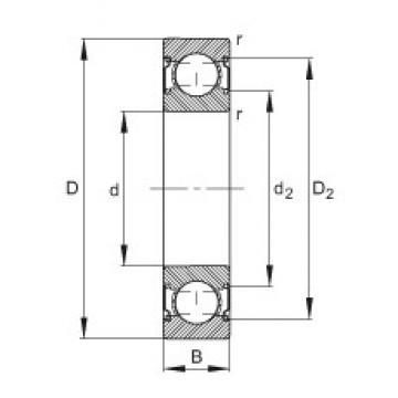 20 mm x 42 mm x 12 mm  FAG 6004-C-2Z Cojinetes de bolas profundas