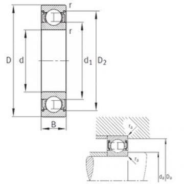 12 mm x 28 mm x 8 mm  FAG F-568368 Cojinetes de bolas profundas