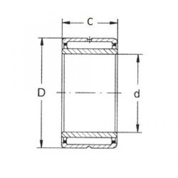 12 mm x 24 mm x 16 mm  FBJ NKI 12/16 Rodamientos De Agujas