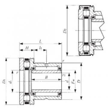 14 mm x 26 mm x 17 mm  IKO NBXI 1425Z Cojinetes Complejos
