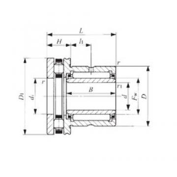 50 mm x 72 mm x 25,5 mm  IKO NBXI 5040 Cojinetes Complejos
