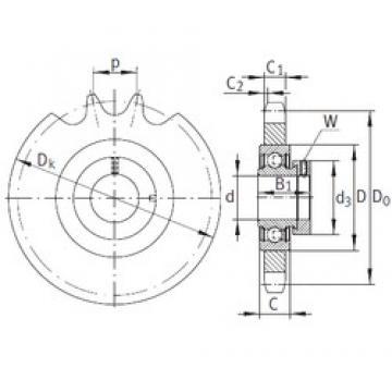 INA KSR25-B0-08-10-19-08 Unidad De Rodamiento
