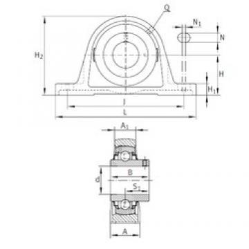 INA RAKY1-1/4 Unidad De Rodamiento