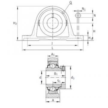 INA RASE1-3/16 Unidad De Rodamiento