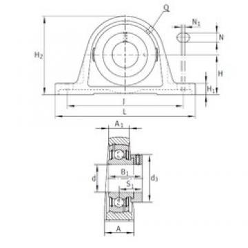 INA PAK1-3/8 Unidad De Rodamiento