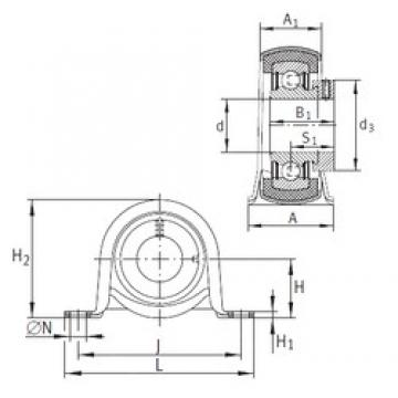 INA RPB17 Unidad De Rodamiento