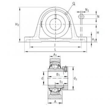 INA RAK1-3/16 Unidad De Rodamiento