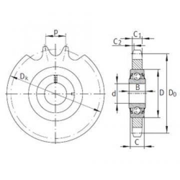 20 mm x 47 mm x 17,7 mm  INA KSR20-L0-16-10-12-15 Unidad De Rodamiento